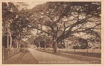 Trinidad British West Indies Port Of Spain Queens Park Antique Postcard K107021