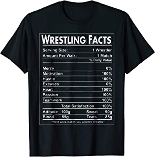 Funny Wrestling Facts T-Shirt Wrestling Lover Shirt