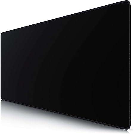 TITANWOLF - XXL Tappetino per Mouse da Gioco - Gaming Mousepad Extra Grande 900 x 400mm - Pad con Base in Gomma Antiscivolo - Spessore 3mm - Nero Black