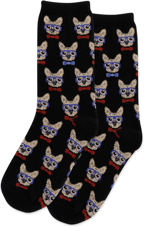 Hot Sox Kids Smart Frenchie Crew Socks