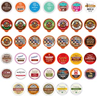 Perfect Samplers Coffee, Tea, Cider,Cappuccino For Keurig K Cups Brewers, includes Hot Cocoa from Grove Square and Crazy C...