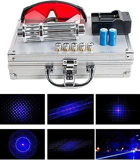 EXCELLENT SHOPPING 450nm 200MW Blue Beam Light Powerful Laser Pointer Pen + Glasses