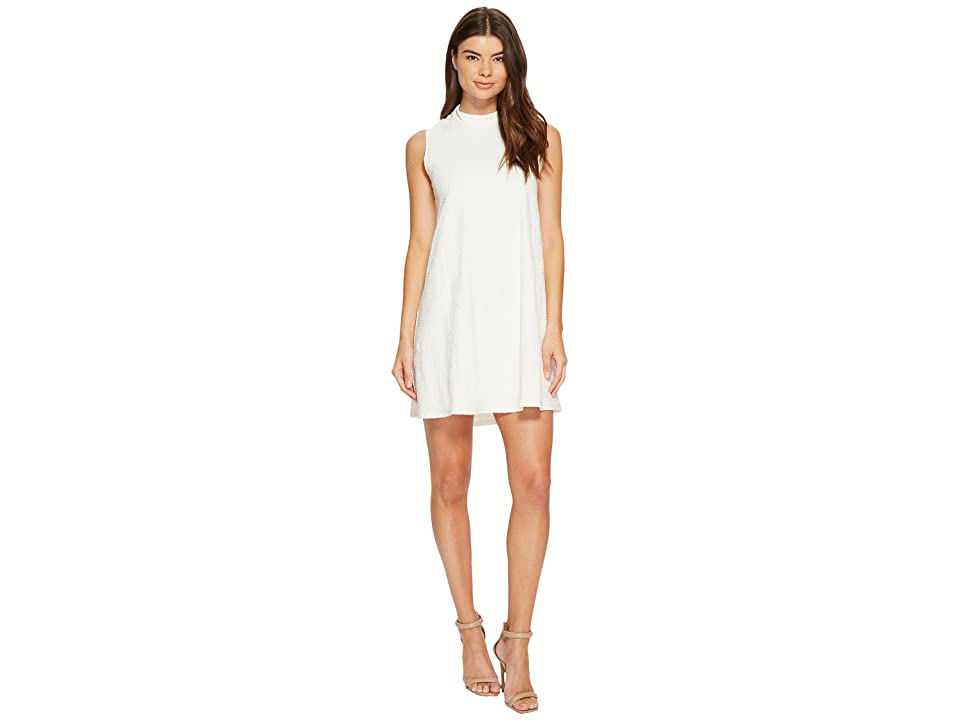 CATHERINE Catherine Malandrino Sleeveless Mock Neck Dress (Off-White) Women