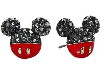 Swarovski Mickey Pierced Earrings (Black) Earring