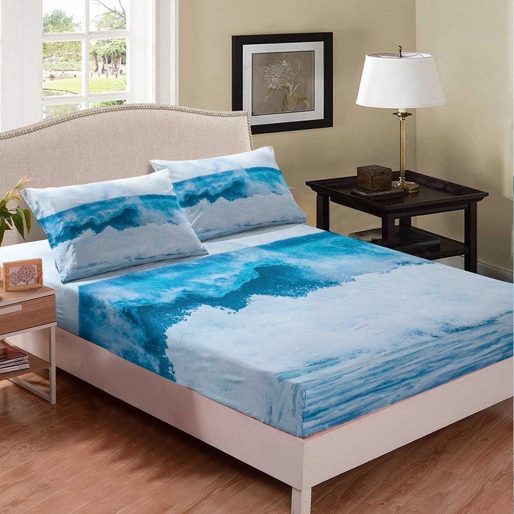 White Blue Bedding Set Kids Regular discount Boys Minimalism Girls Classic Twin Fitted Sh