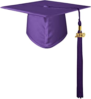 GraduationMall Matte Kindergarten & Preschool Graduation Cap for Kids with 2020 Tassel 12 Colors