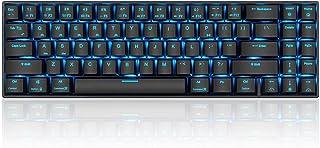 ZHEBEI Wireless bluetooth 71-key mechanical keyboard green axis tea axis 71-key dual-mode mobile phone computer tablet key...