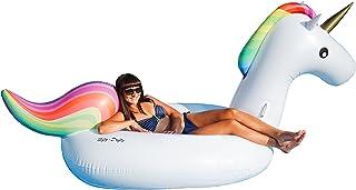 Nifty-Drifty Gigante Flotador Inflable de Unicornio para alberca (275cm Largo) – Juguete Flotador para alberca al Aire Libre – Balsa Inflable