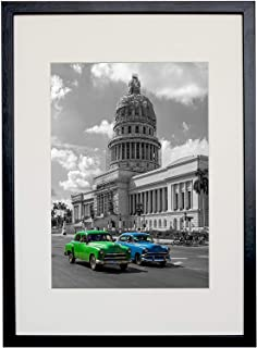 BD ART 29.7x42 cm (A3) Black Picture Frame with Mat for Photo 21x30 cm (A4)