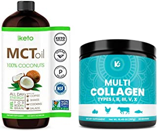 KEPPI MCT Oil and Multi Collagen Bundle - MCT Oil and Multi Collagen Protein Powder