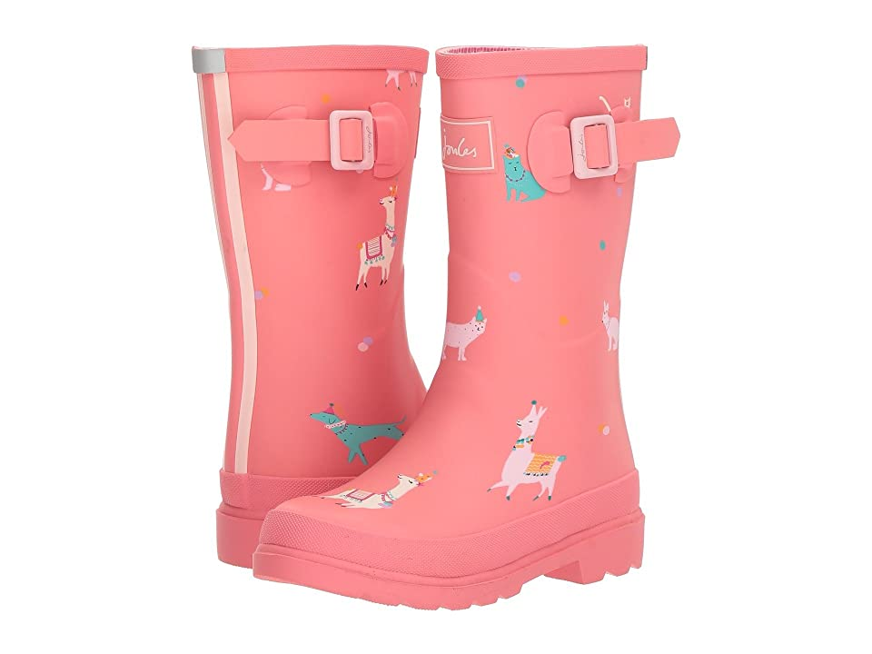 Joules Kids Printed Welly Rain Boot (Toddler/Little Kid/Big Kid) (Bright Pink Festival Friends) Girls Shoes