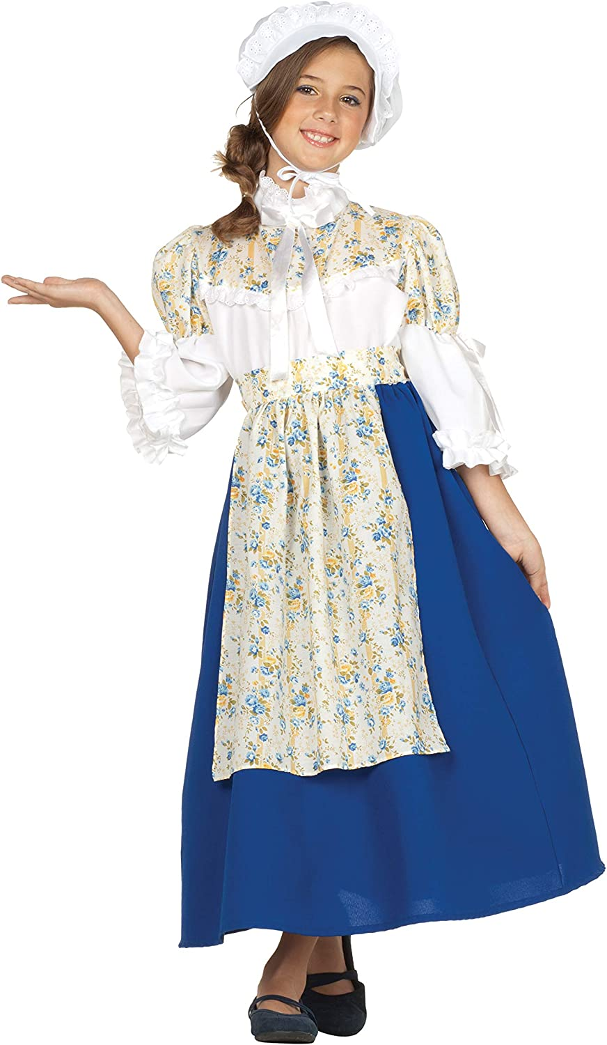 RG Costumes Colonial Beauty Costume, Blau Weiß Gelb, Medium