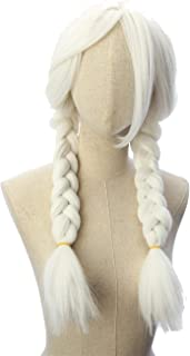 CosplayWigsCom: Mama Coco Inspired Snow White Long braided pigtails with Long Inclined Bangs Prestyled Cosplay Fancy Wig for Women