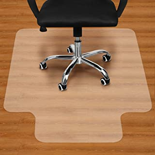 "Office Chair Mat for Hardwood Floor - 36""x48"" Clear PVC Desk Chair Mat - Heavy Duty Floor Protector for Home or Office - E..."