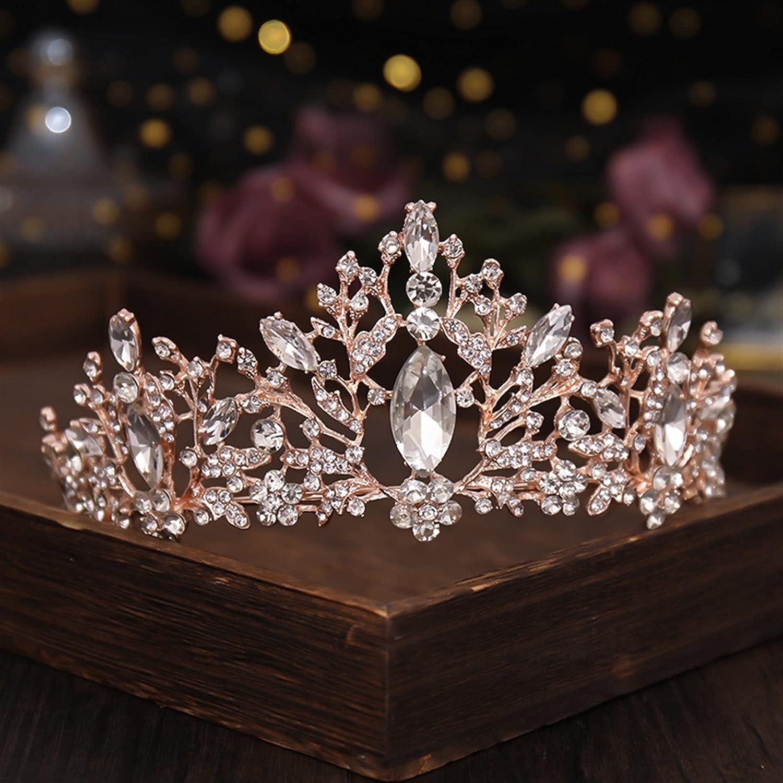 Wedding Headpieces Rhinestone Flower Crown Bride Headdress Wedding Tiara Headband Hairband Girl Crystal Wedding Crown Headband Wedding Hair Accessories