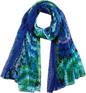 Desigual FOU_Galactic Hypnotic Bufanda, azul, U para Mujer