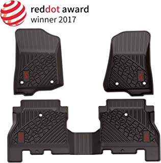 San Auto Floor Mats for Mazda CX5 CX-5 2017 2018 2019 2020 Heavy Duty Rubber Car Carpet Floor Mat Liners Set Odorless All Weather Black