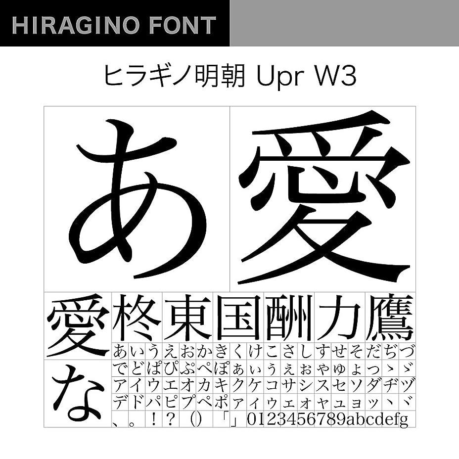 義務付けられたフィット器用OpenType ヒラギノ明朝 Upr W3 [ダウンロード]