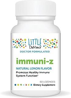 Little DaVinci – immuni-Z, Zinc Throat Lozenge, Immunity Supplement for Kids, Lemon Flavor, No Added Sugars, 60 ct.