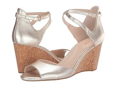 Cole Haan Sadie Grand Open Toe Wedge Sandal (Soft Gold Metallic) Women