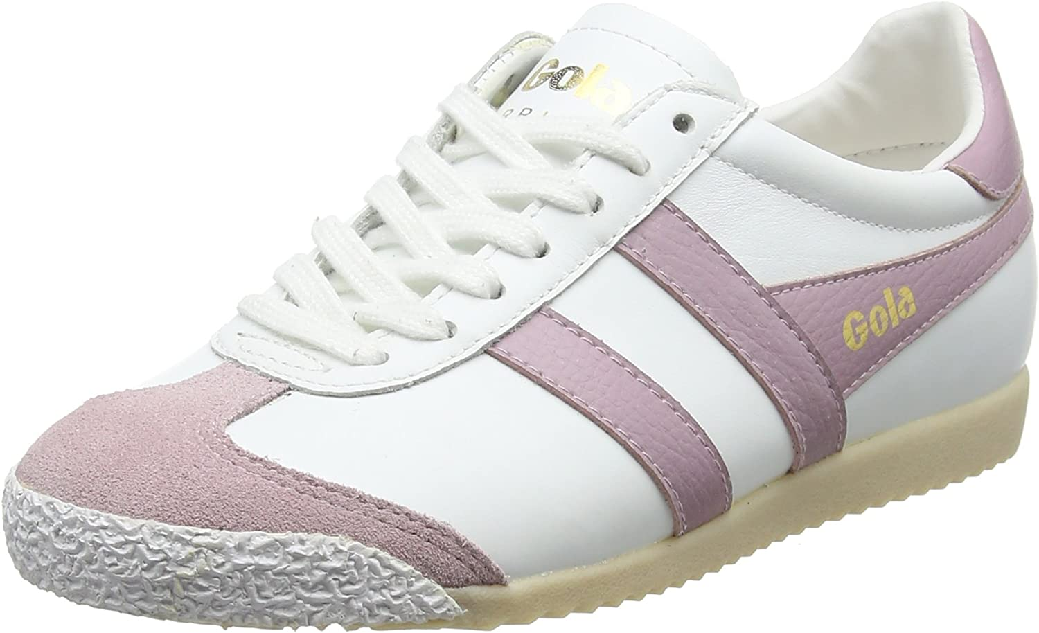 Gola Women's Harrier 50 Leather White Pastel Pnk Trainers