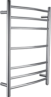 ANZZI Gown 7-Bar Wall Mounted Towel Warmer in Polished Chrome | Energy Efficient 93W Electric Plug in Heated Towel Rack for Bathroom | Stainless Steel Towel Heater Rail Quick Towel Dryer | TW-AZ027CH