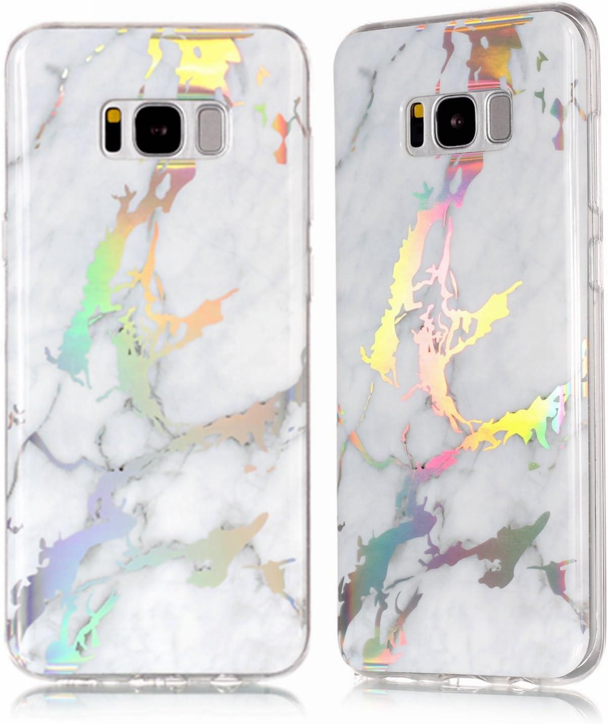 holographique Marbre Coque de protection en silicone pour Samsung Galaxy S8/S8 Plus, Samsung Galaxy S8