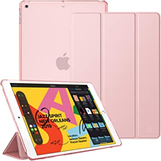 Fintie Case for New iPad 7th Gen 10.2 Inch 2019 - Lightweight Slim Shell Stand with Translucent Frosted Back Cover Supports Auto Wake/Sleep for iPad 10.2