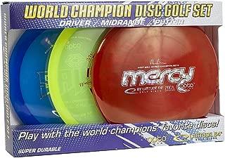 Latitude 64 Opto Line 3 Sheets Putter Midrange Driver – World Champion Disc Golf Set
