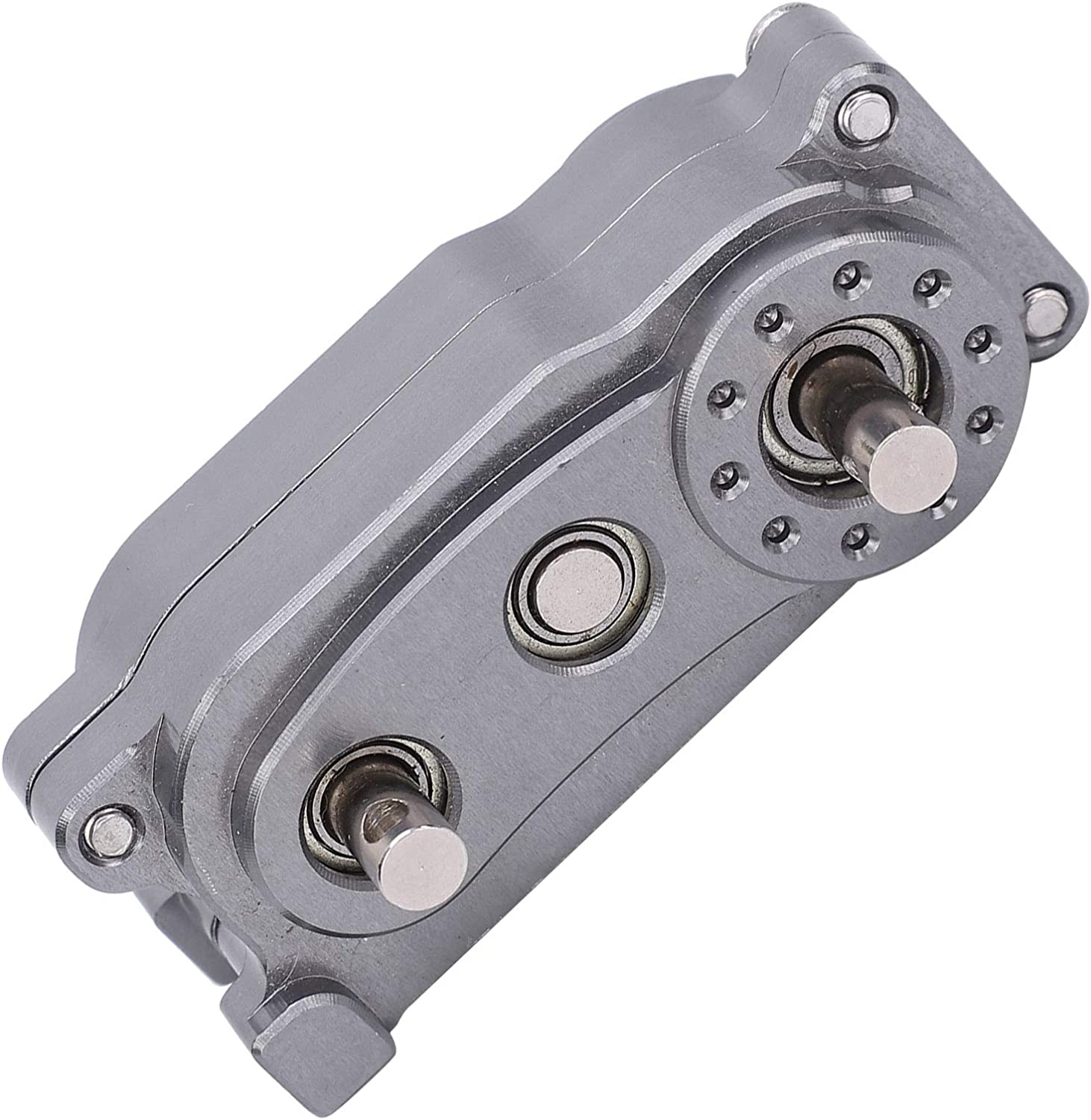Ti Upgrade Components Parts Fit for 1//10 RC Crawler Car 313mm Wheelbase Metal Chassis Frame Transfer Case RC Crawler Transfer Case