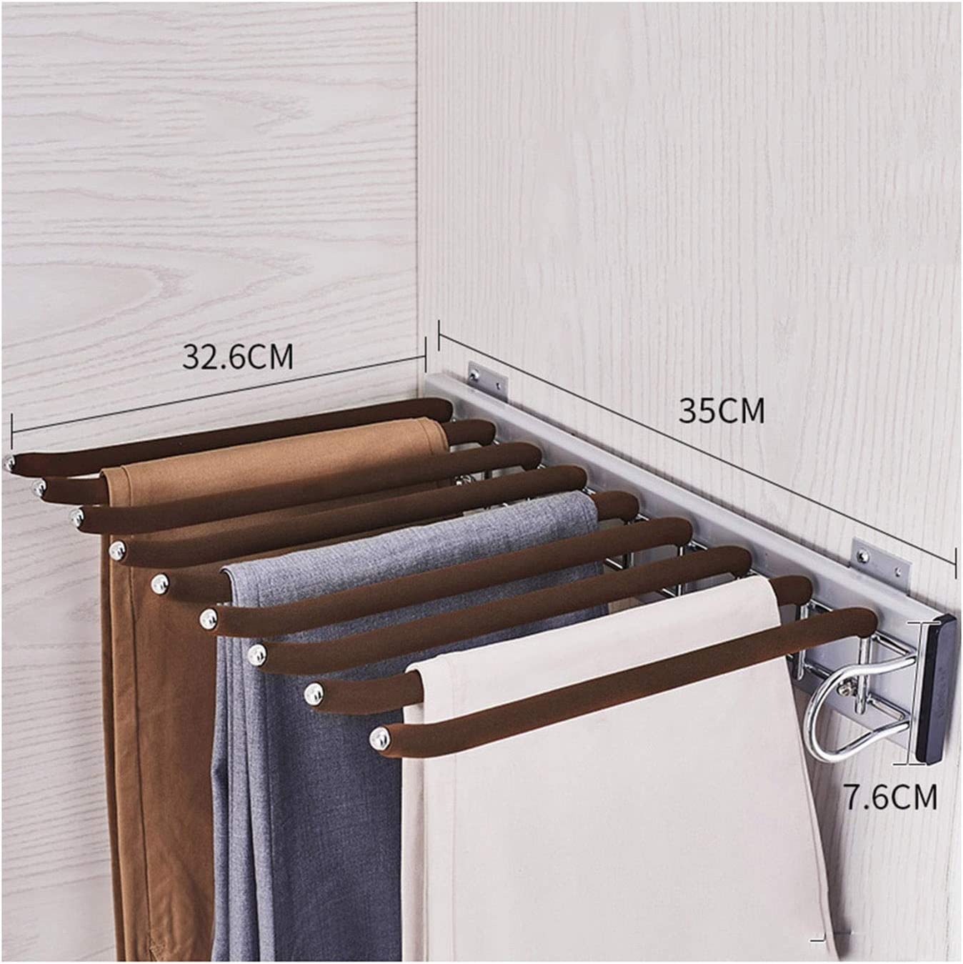 Luxury Qikafan Closet Pull Cheap super special price Out Trousers Sliding Rack Stora Clothes Rail