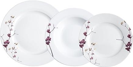Bidasoa Hebe - Vajilla de 18 piezas, porcelana, multicolor