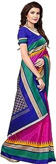 Pakistaniart Silk Kalamkari and Bhagalpuri Style Saree with Blouse Piece BELA Pink