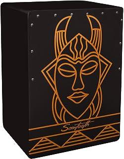 Sawtooth Harmony Series Stained Spirit Design Satin Black Large Cajon