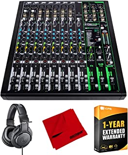Mackie ProFX12v3 12 Channel Professional Effects Mixer with USB Bundle with Audio-Technica ATH-M20X Professional Monitor H...