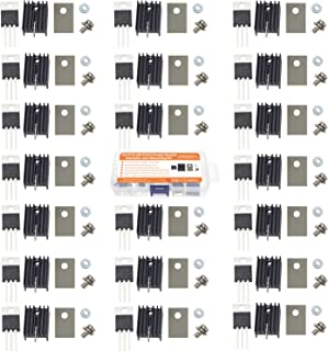 Makeronics 20 pcs IRFZ44N Insulator and Mounting kit with TO-220 Heatsink,Insulator rubberized silicone Washer and Bushing   N-Channel MOSFET Transistor   International Rectifier Power 49 A 55 V,3-Pin