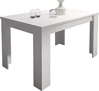 HomeSouth - Mesa de Comedor Extensible Modelo Corfu Color Blanco Medidas Mesa: 138 x 76 x 88 cm de Fondo