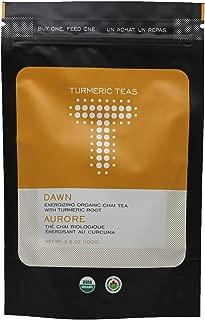 Turmeric Teas DAWN - Energizing Organic Turmeric Chai, Loose Leaf Tea, 50-70 Servings of Anti-inflammatory, Immunity Boosting, Healing Tea - Caffeinated, Non-GMO, Sugar Free (3.5oz)