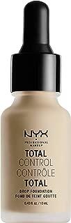 Base liquida de maquillaje, Total Control Drop Foundation, Nyx Professional Makeup, Tono Natural ,13ml