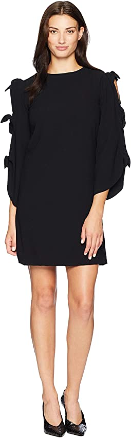 Long Sleeve with Ties Shift Dress