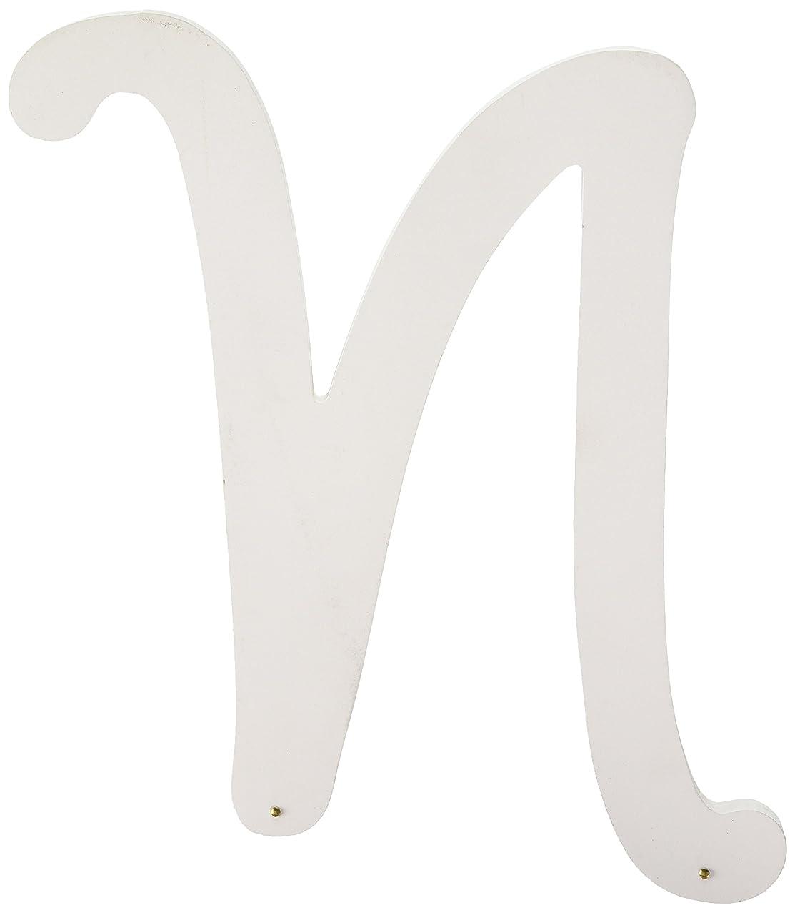 Darice U9188-N 9In White Wood Letter N