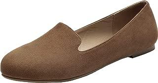 Aukusor Women's Wide Width Ankle Booties - Low Chunky Heel Inside Zipper Buckle Pattern Winter Boots Cozy Work Shoes.