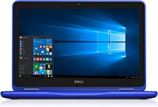 Dell i3168-3271BLU 11.6' HD 2-in-1 Laptop (Intel Pentium N3710 1.6GHz Processor, 4 GB DDR3L SDRAM, 500 GB HDD, Windows 10) Bali Blue (Renewed)