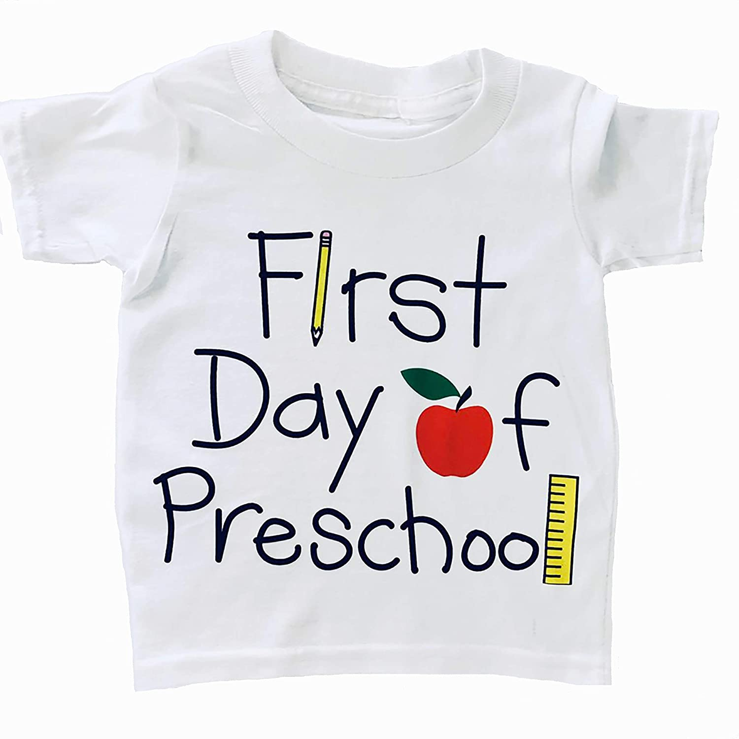 First Day of low-pricing Preschool Shirt Toddler Pre-K Tampa Mall T-shirt Children's