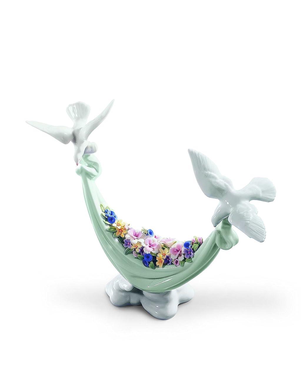 実行可能アーチ作り上げるリヤドロ LLADRó 人形 平和の花かご 01006579