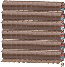 Tesa 72 rollen tape bruin 64014 - pakkettape 50 mm x 66 m - pakketplakband rustig afrollend + gratis Tesafilm [15 mm x 10 m]