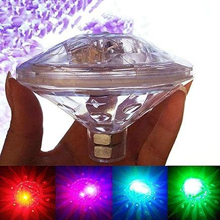 FEN&G Diamond Light sous l'eau Tenu Bébé Baignoire Lumière Coloré blanchiment étanches Lampe veilleuse Projection feu dirigé Bain de Lumière