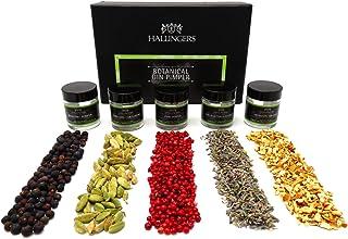 Hallingers 5er Premium Gin Botanicals als Geschenk-Set 43g - Botanical Gin Pimper MiniDeluxe-Box - zu Passt immer Für Ihn Weihnachten