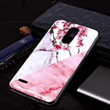Mobile phone case Marble Pattern Soft TPU Case For LG K8 (2018)(Plum Blossom) (Color : Plum Blossom)