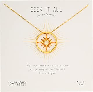 Dogeared Women's Seek It All, Cloud Spun Token Necklace